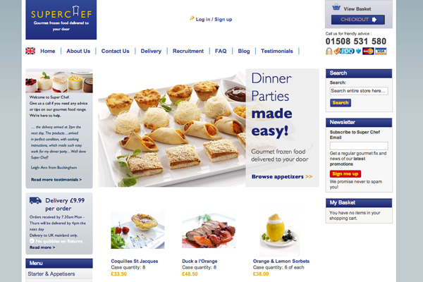 Online shop for Frozen Food Delivery